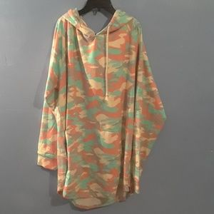 Other - Colorful army fatigue hoodie